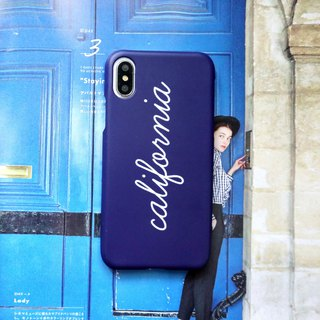 California Dark Blue Phone Case