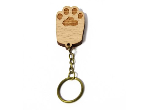 [White] keychain palm / palm healing cat / cat / key ring / gift / customized