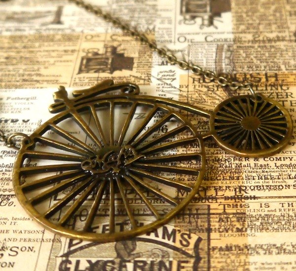 Light you up bicycle to travel Necklace SL265