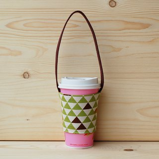 Triangular Giraffe Drink Bag_Green/Cup Set