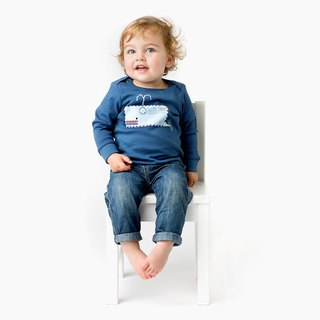 Blue Whale T-Shirt for Baby 100% Organic