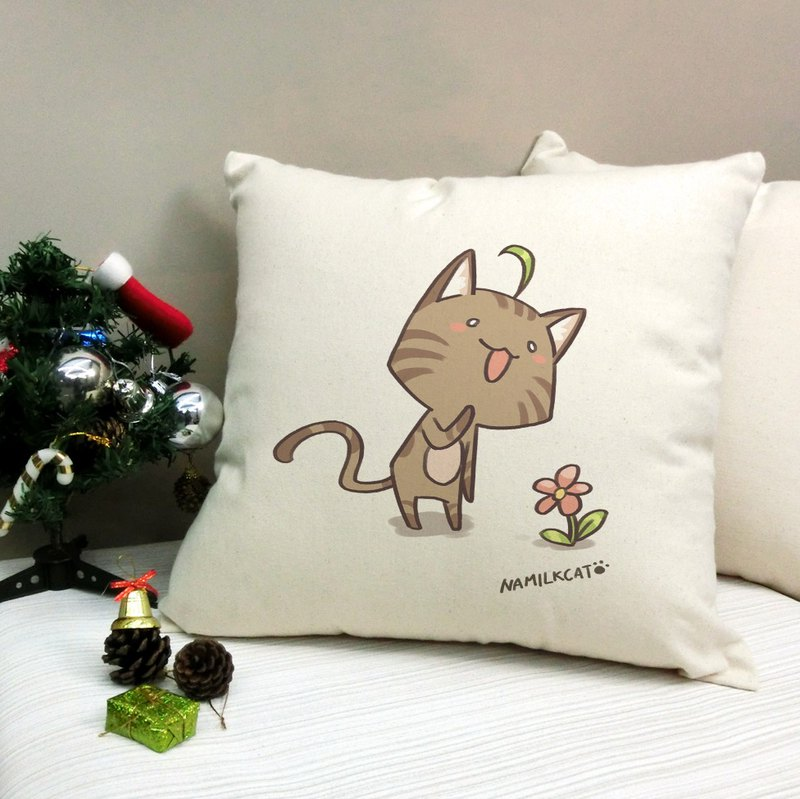 [Illustrator / Namco cat] Namilkcat cotton canvas pillow - home decoration