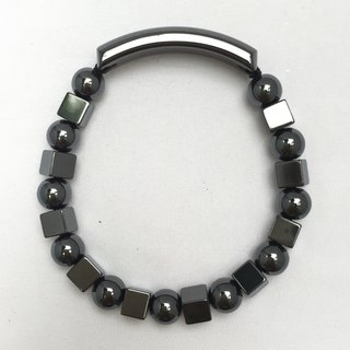 * Featured * BR0340 - Natural Gemstone - Iron Ore Bracelet Natural Gemstone Bracelet - Hematite