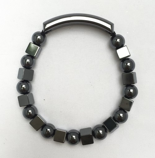 *精選*BR0340 - 天然寶石-鐵礦石手鐲 Natural Gemstone Bracelet - Hematite