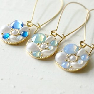 Swarovski Bijou ♡ hook earrings