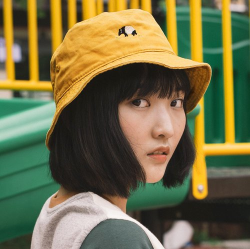 6fd34471d73 Tapir embroidery Bucket Hat   Yellow Mustard - Designer washingmachine s  vacation