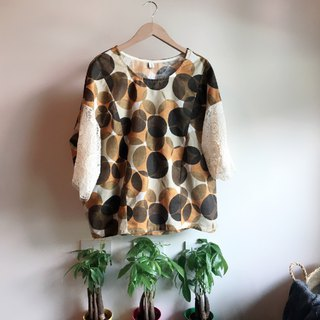 Brown Bubble cotton top