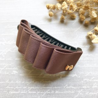 Elegant temperament ponytail clip / coffee