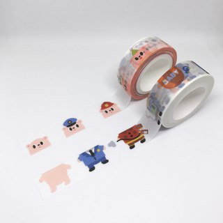 Rilakkuma Paper Tape Kit (Bearhead + Bear Body)
