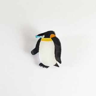 Pla bang brooch of mussham shirt penguin as many as you want