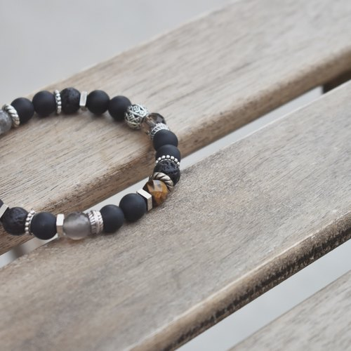 Zhu.BLACK DREAM (natural ore / couple models / gifts / Christmas gifts / personality / men's bracelet)