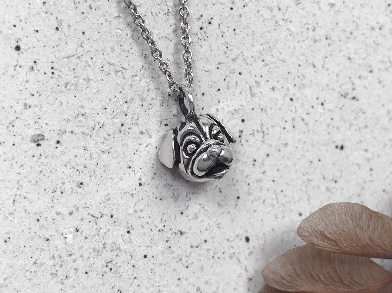巴哥犬-純銀項鍊