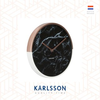Karlsson, Wall clock Marble Delight copper case black