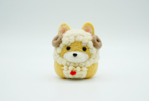 MoonMade [Zoo Series] Knitting Sheep Chiba Shibacha Owner's Gifts Wool Felt Dog Decorations Ornaments Keychains Cars Spring Decorations Desk Things Brooch Pins Birthday Gifts Valentine's Day Gifts