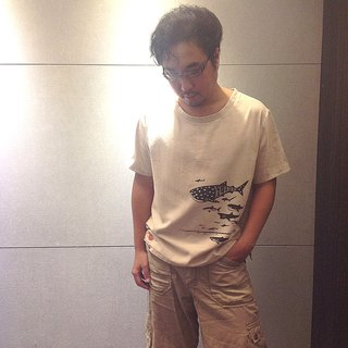 Design No.SH105 - 【Shark Diagram】Handmade T-Shirts