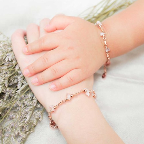 """Parent-child bracelet"" rose pink crystal my beloved [Parenting 