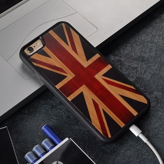 Sonrmum British Flag Iphone X 8 7 Case Samsung Galaxy S7 S8 Customized Wood Case