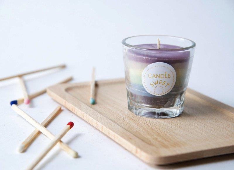 彩虹蠟燭- 大豆無香味蠟燭 50ml