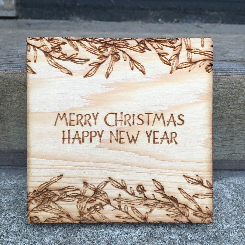 Christmas Wooden Coster A