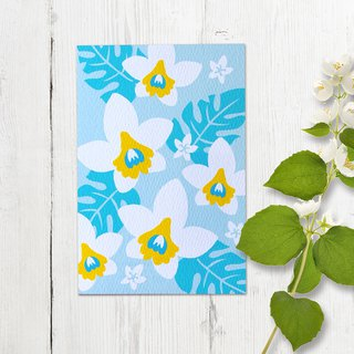 Greeting Card - White Orchid -