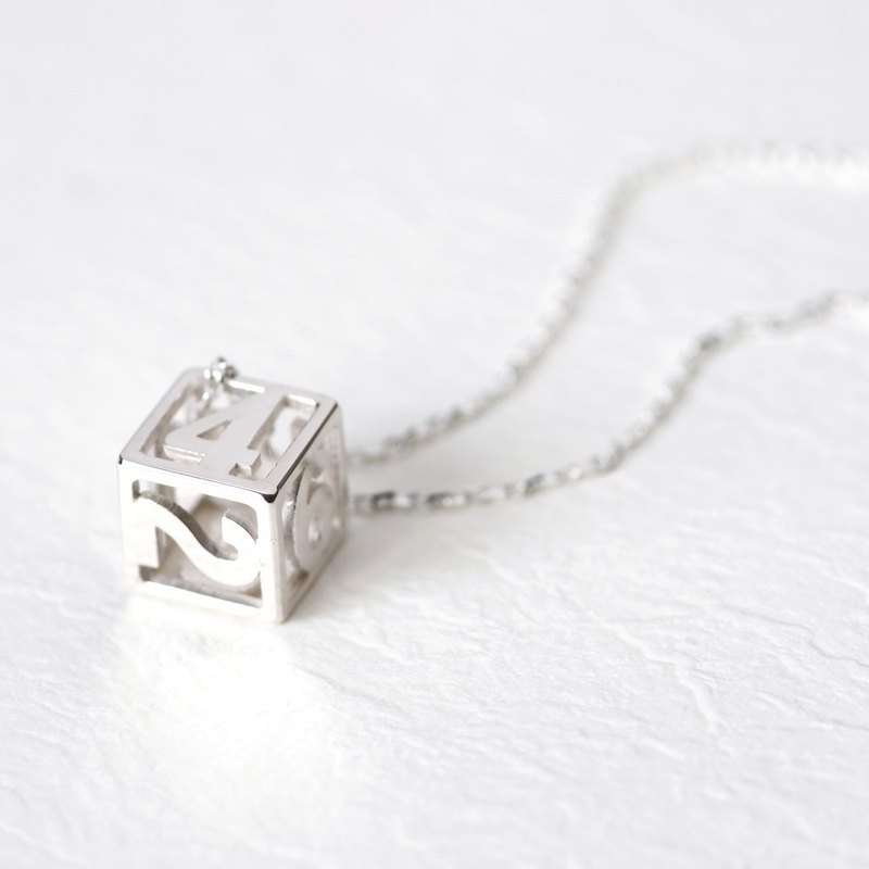 Dice Dice necklace silver925