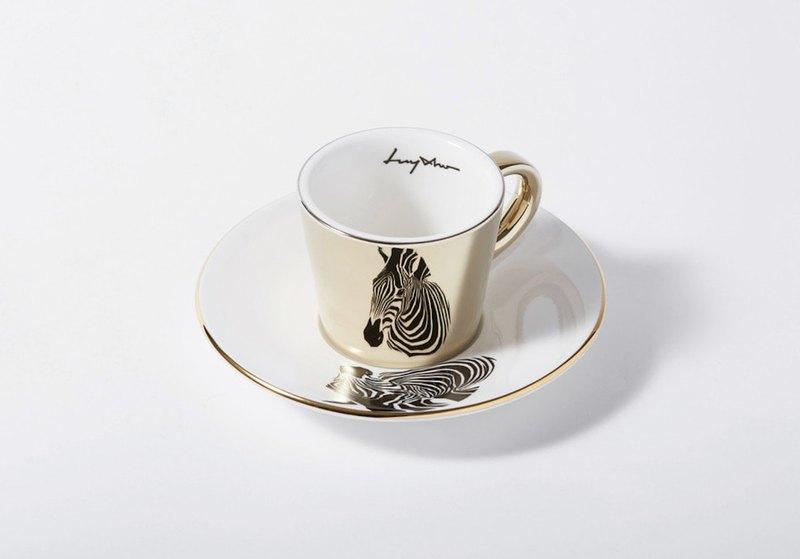 Luycho 鏡面倒影杯組 濃縮咖啡杯 _ 斑馬