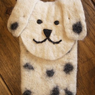 【Grooving the beats】felt dog case, felt case, custom case, handmade iPhone sleeve, iPhone bag(Animal_Dog)