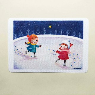 Moonlight skate postcard no.165