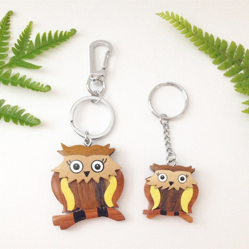 [Handmade wooden x owl key ring / strap] * January