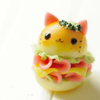 Sweet Dream ☆ delicious burgers kitten ☆ / bag ornaments key ring