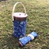 收納水壺袋 飲料袋 手工絹印 六種顏色可選