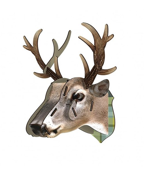 SUSS- Italy MIHO Wood deer head texture Home Decor / Mural - Medium Large (Cervo-8) - New Home / Decor / Present / Birthday - Free Shipping