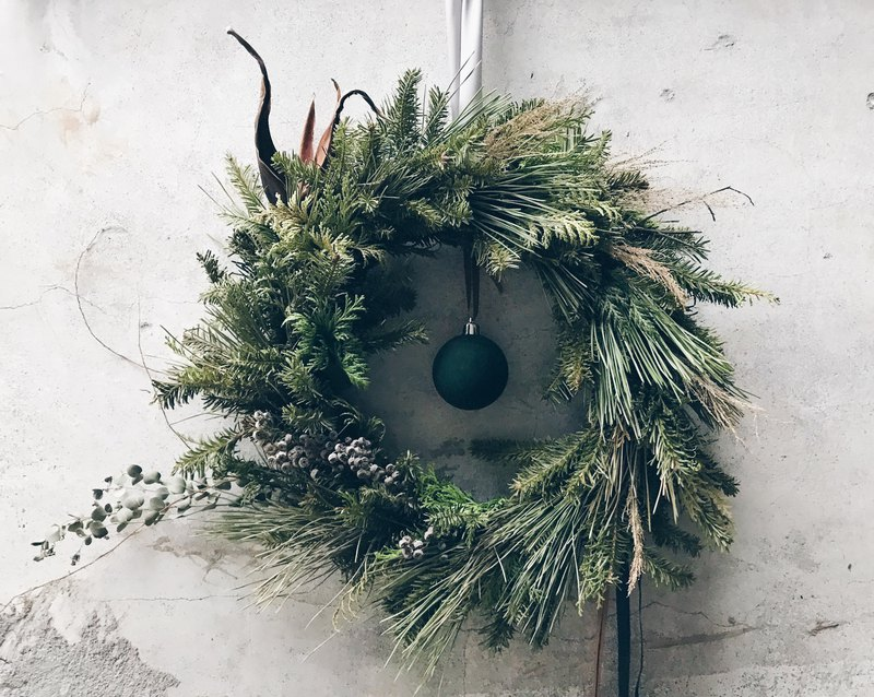 Flower Wreath! [The God of the Forest - Pan] Dry Wreath Space Arrangement Christmas Gifts