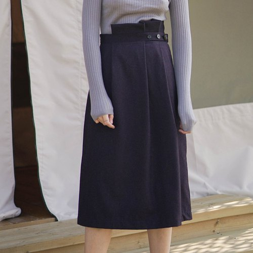 Deep violets blossom asymmetrical hem skirt Imported material 90% Cashmere cashmere + 10% Wool wool Italian high-definition fabric Light and lustrous variegated models than the real beauty of the United States 100 times