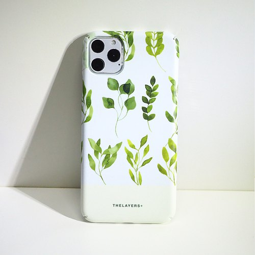 GRAPHIC WATER COLOR PRINT LEAFS - REFRESH MATTE iPhone 7 Case