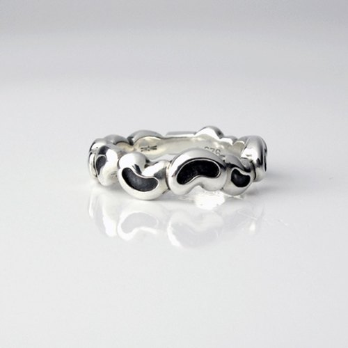 Jack and magic bean sterling silver handmade ring