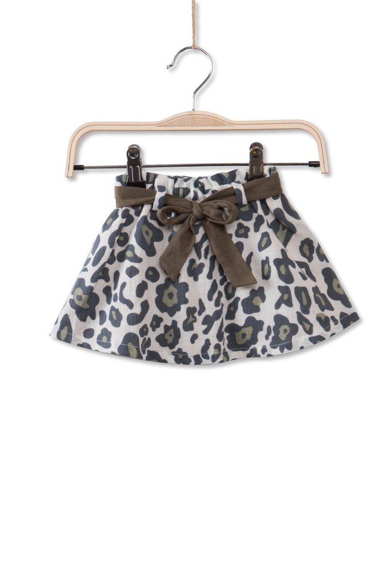Little cloud leopard tie skirt