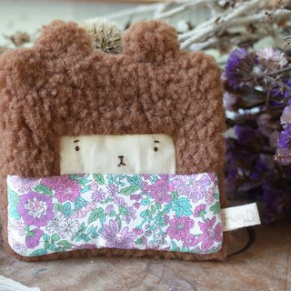 Doll Bunny Purse - Warm Brown Hair - Mayflower/Purple