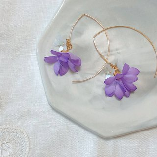 Flower Juli series - dancing bell flower hand made flower cloth flower drape limited ear hook / ear clip