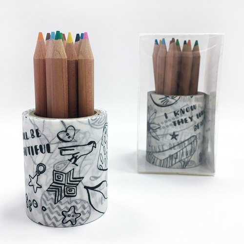 maste Masking Tape for Coloring / Color Pencil Set【Nina Chakrabarti (MST-ZC03-C)】<Limited>