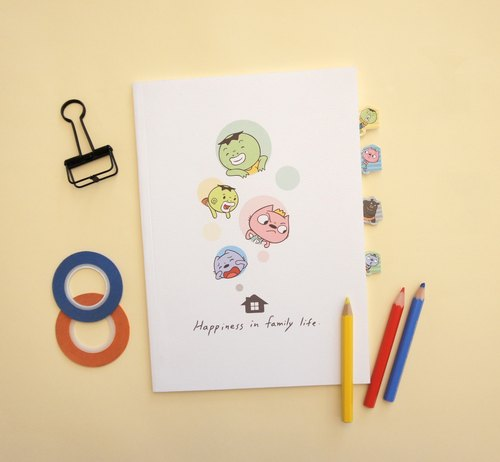 "8 yuan brother - life is ""4"" to be happy [notebook] + tab sticker"