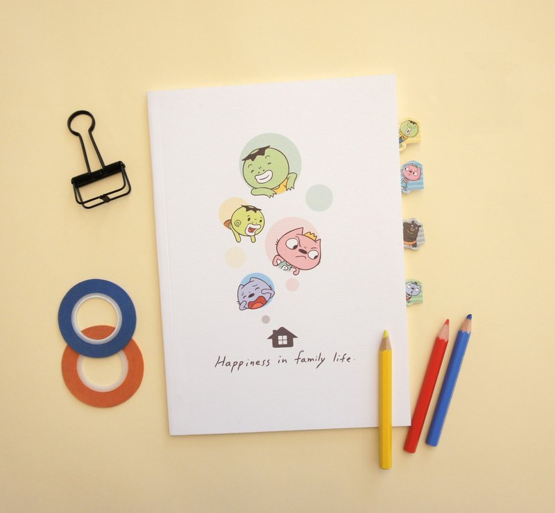 "8 yuan brother - life is ""4"" to be happy [notebook + page sticker]"