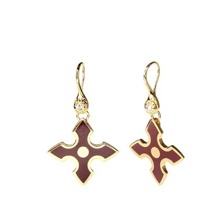 Chivalry Gawain Cloisonne Earrings (gold) -18,112,151,118