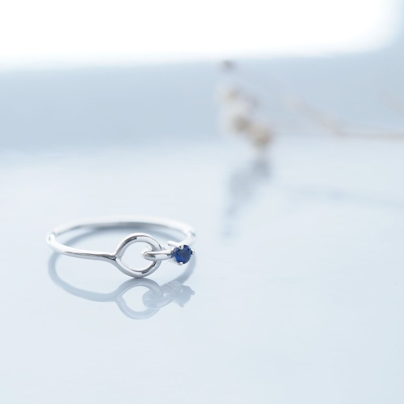 Sapphire stone Wirering Silver 925