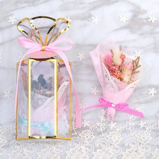 Mini Dry Bouquet Gift Box - Pink Lady with Card