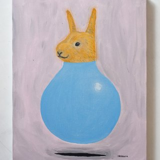 [IROSOCA] Rabbit Bouncy Balloon Painting F6 Size Original Picture