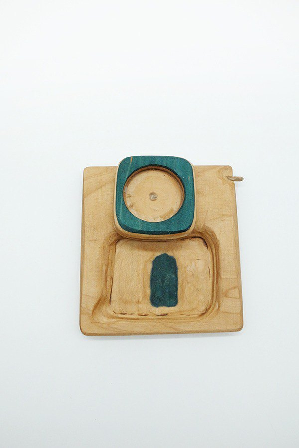 Recycled Skateboard Magnetic Trays with Pokey(Wood/Green)