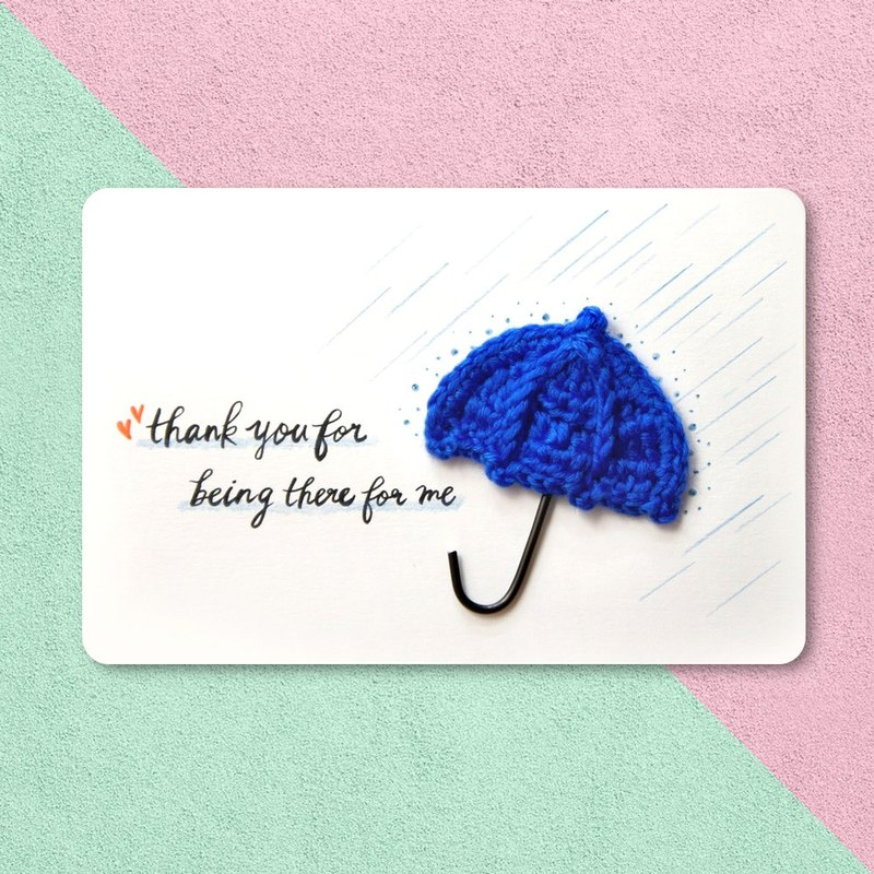 [Thank you Card / Card] - the best mind handmade custom cards - thank you for your support all the way