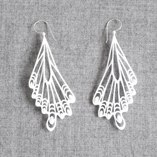 papillon white earrings