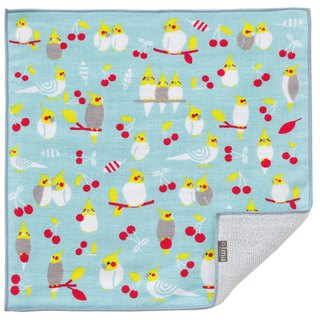 【IMA】WAFUKA Japan made Gift, Design, Soft, Cute & Unique Handkerchief- Parrot